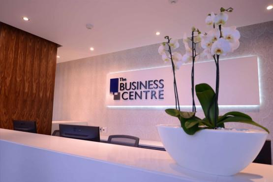 Front Desk of the Broadacres Business Centre with beautiful flower
