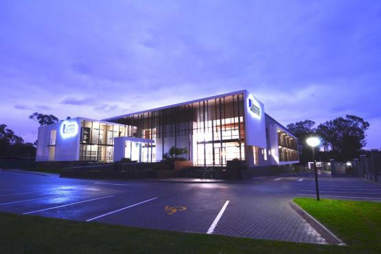 Broadacres Business Centre Parking space in the evening