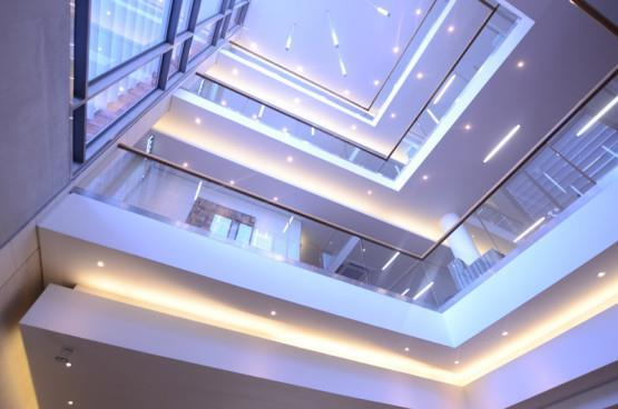 Vertical view of The Business Centre Century City interior