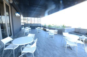 Seating Area outside Business Cafe at Century City TBC
