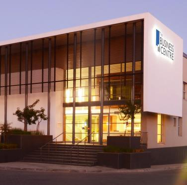 The beautiful Broadacres Business Centre Exterior View at night