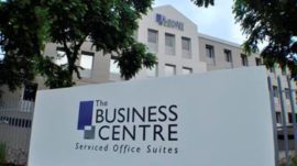 Sign board of Rivonia Business Centre