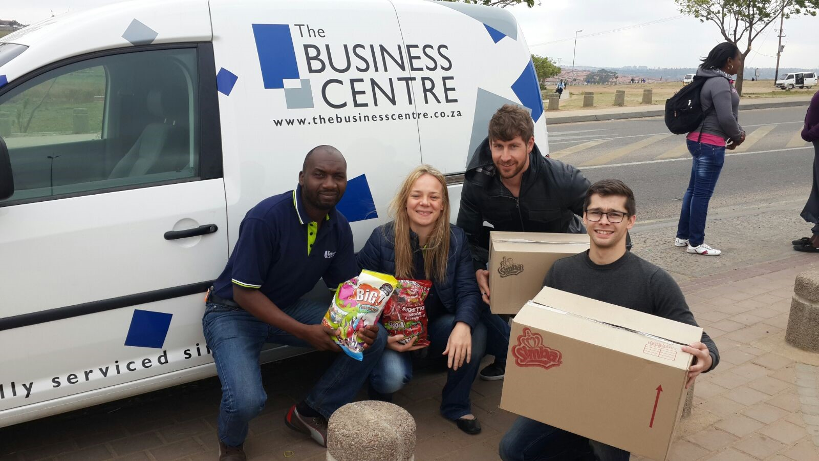 The Business Centre Team: Lloyd Ncube, Liza Du Pisanie, Jean Tarbuck, Sascha Albany