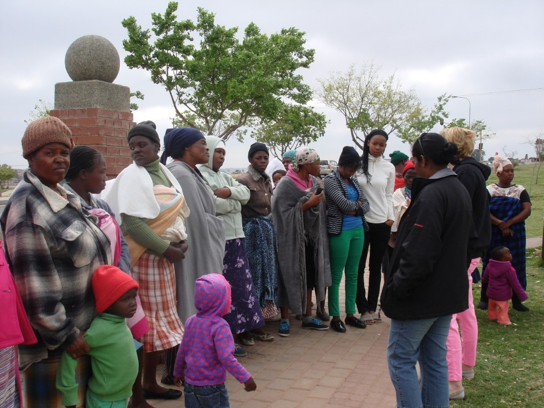 woman and children were gathering for church
